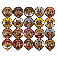 Crazy Cups Flavored Coffee Single Serve for Keurig K Cups Brewer Variety Pack Sampler, 20 Count