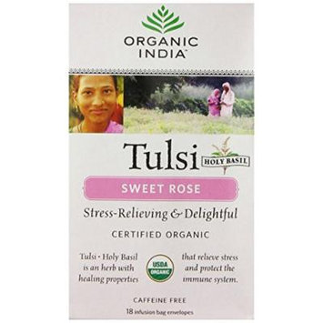 Organic India Tulsi Sweet Rose - 18 Tea Bags
