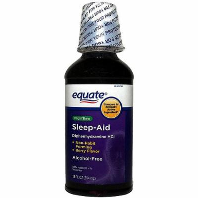 Equate Alcohol Free Night Time Sleep Aid, 12 Fl Oz (Compare to Zzzquil)