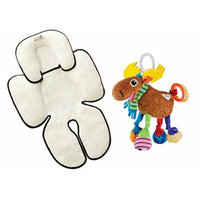 Summer Infant Velboa Snuzzler Head & Body Support with Take Along Toy, Moose