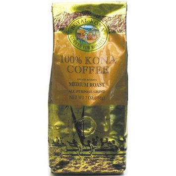 Royal Kona Coffee 100% Kona Coffee Private Reserve Ground 7 oz Bag (Pack of 3)