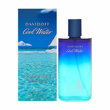 Davidoff Cool Water Summer Seas Limited Edition Eau De Toilette Spray for Men, 4.2 Fluid Ounce