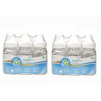 6 New Evenflo Glass Baby Bottles 4oz, BPA Free