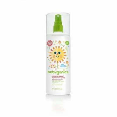 BabyGanics Cover Up Baby Sunscreen Spray SPF 50, 6 oz