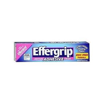 Effergrip Extra Strong Denture Adhesive Cream, Zinc Free 2.5 oz (70 g)