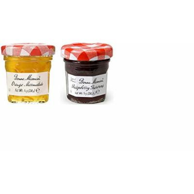 Bonne Maman Duo Mini Jars - 1 Oz X 30 Pcs (15 Orange, 15 Raspberry)