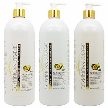 Dominican Magic Nourishing Shampoo & Conditioner & Moisture Lock Leave on 32oz