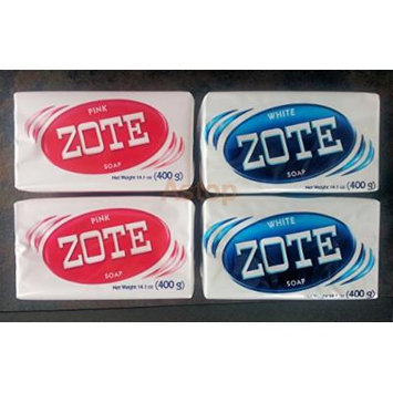 Zote White & Pink Soaps Combo, For Laundry, Washing Clothes 14.1 oz. (4 Pack).. A09011997..ajax..palmolive..ariel..wisk..jabon..detergent..tide..