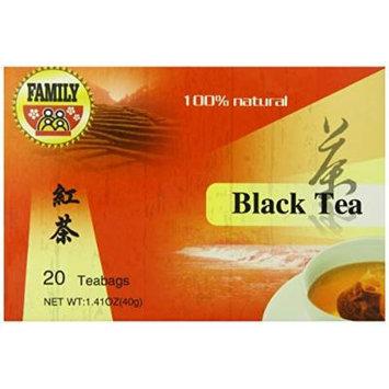 Family Black Tea Bag, 20 Count (Pack of 12)