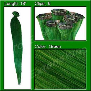 Pro Extensions Green Highlight Streak Pack Remi Human Hair Graded A+
