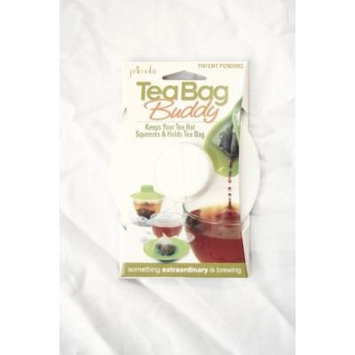 Epoca Silicone Tea Bag Buddy and Cup Cover Lid, 2-Pack, White