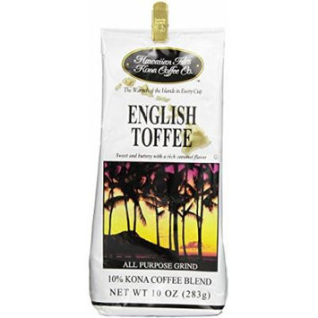 Hawaiian Isles Coffee Co. English Toffee 10 oz grind