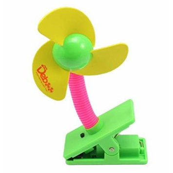 Generic Clip-on Mini Baby Safety Stroller Fan Great For Outdoor,Beach, Pool,Camping Easy To Carry (Yellow)