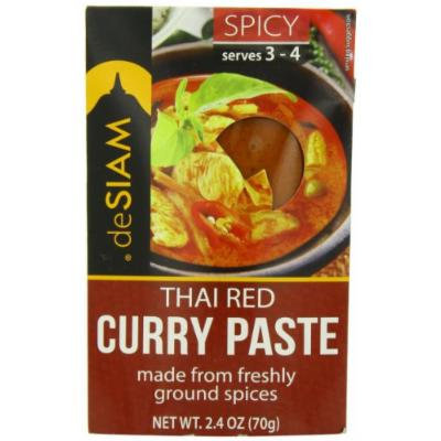 deSIAM Curry Paste, Thai Red, 2.4 Ounce (Pack of 6)