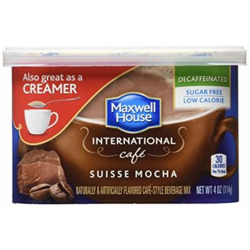 Maxwell House International Cafe-Style Sugar Free Decaffeinated Suisse Mocha, 4 oz(Pack of 4)