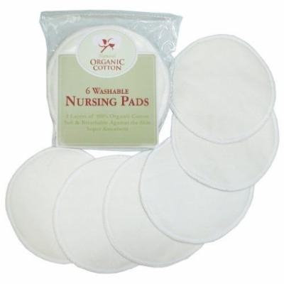 TL Care Organic Cotton Nursing Pads, Natural, 6 Count