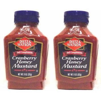 Dietz & Watson, Deli Compliments, Cranberry Honey Mustard, 11oz Bottle (Pack of 2)