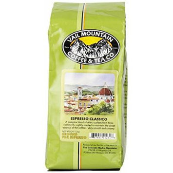 Vail Mountain Coffee & Tea Espresso Classico Ground for Espresso, 12-Ounce Bags (Pack of 3)
