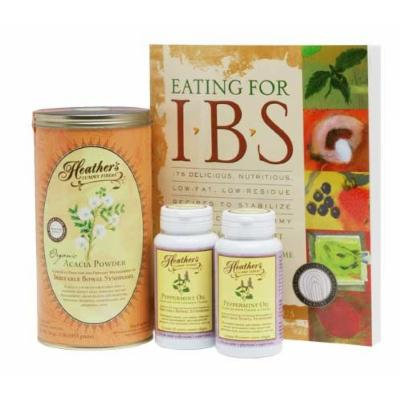 Heather's Irritable Bowel Syndrome Diet Kit #2 - Eating for IBS, Tummy Fiber Acacia Senegal Can, Peppermint Oil Caps (Over 20% off!)