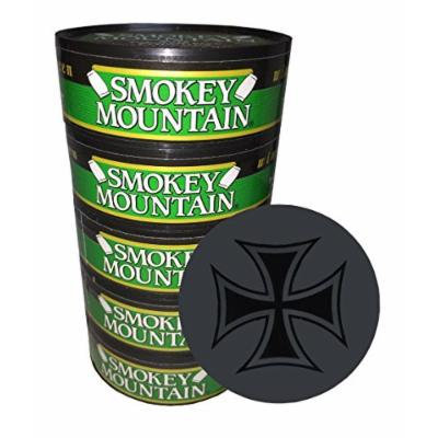 Smokey Mountain Snuff - 5 Cans - Includes Free DC Skin Can Cover (Wintergreen Pouch)