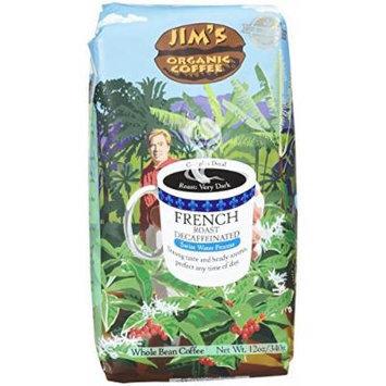 JIMS ORGANIC COFFEE COFFEE DCAF FRNCH RST ORG, 12 OZ