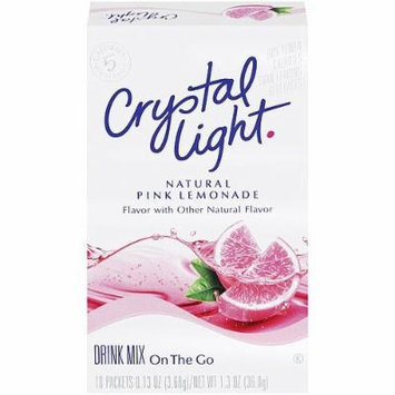 Crystal Light On The Go Pink Lemonade, 10-Packet Boxes (Pack of 4)