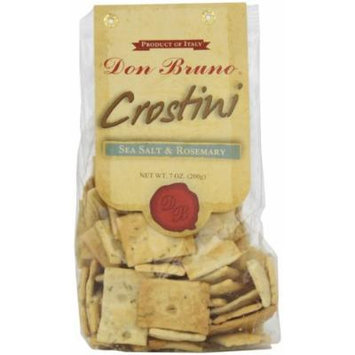 Don Bruno Crostini, Sea Salt & Rosemary, 7 Ounce (Pack of 6)