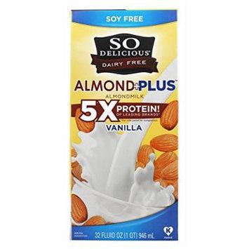 So Delicious - Dairy Free Almond Milk Plus Vanilla - 32 oz. (Pack of 2)