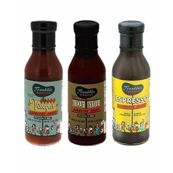 Franklin Barbecue Sauce, 12.5 Oz Variety Pack of 3 Flavors