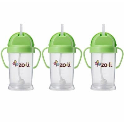 Zoli Baby Bot XL Straw Sippy Cup 9 oz - 3 Pack, Green/Green/Green