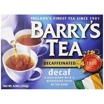Barry's Tea, Decaffeinated, 80 Tea Bags (Pack of 6)