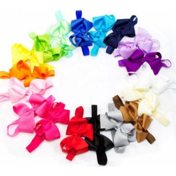 Ema Jane - Baby Hair Flower, Bow, and Headband Sets (Large Grosgrain Bows (4.3 in wide) on Iridescent Headbands)