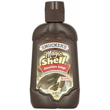 Smucker's Magic Shell Ice Cream Topping, Chocolate Fudge, 7.25-Ounce Bottles (Pack of 12)