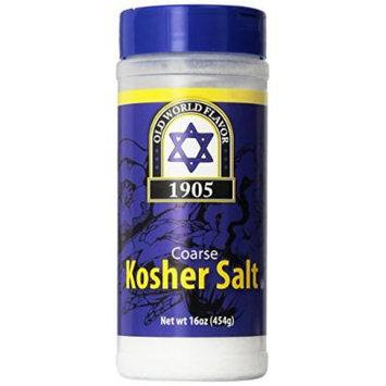 1905 Old World Coarse Kosher Salt 16 Oz (2 Pack)
