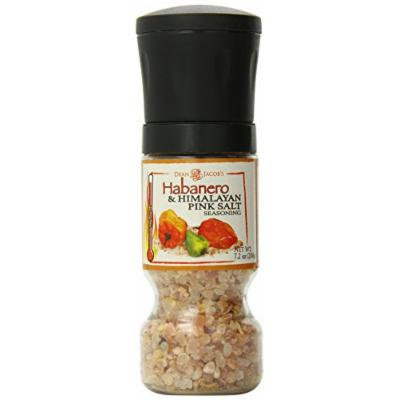 Dean Jacobs Gripper Grinder Habanero and Himalayan Pink Salt Seasoning, 7.2 Ounce