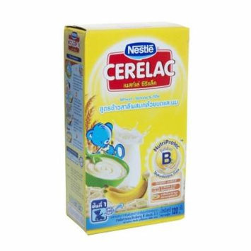 Nestlé Cerelac Wheat, Banana and Milk Formula, Baby Food Size 120 G. Step 1
