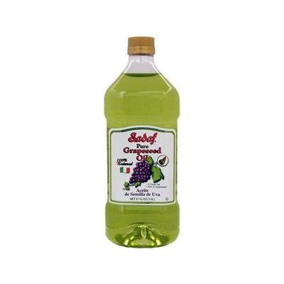Sadaf, Grapeseed Oil, 100% Pure, 1.00 LTR (Pack of 12)