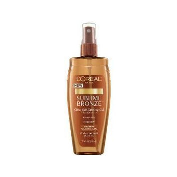 L'Oreal Paris Sublime Bronze Clear Self-Tanning Gel, Medium Natural, 5-Fluid Ounce (PACK OF 2)