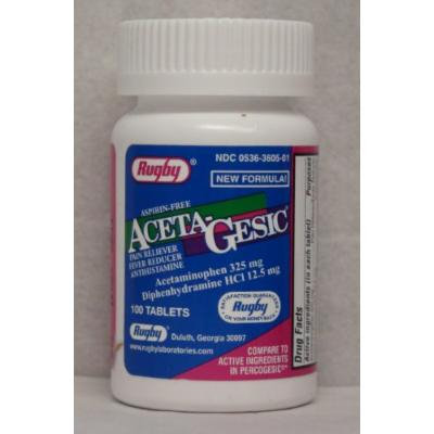 Aceta-Gesic Tablets 100ct *Compare to Percogesic*