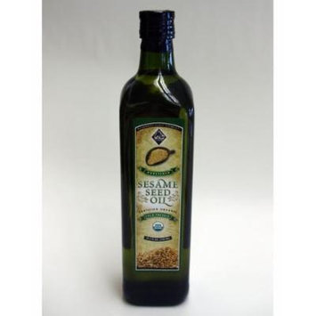 Sesame Seed Oil, Unrefined, Cold Pressed, Certified Organic, 750 ml