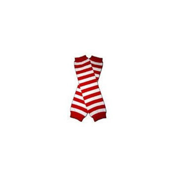MEDIUM RED & WHITE STRIPES - Baby Leggings/Leggies/Leg Warmers for Cloth Diapers - Little Girls & Boys & ONE SIZE by