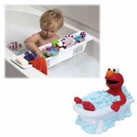 Sesame Street Elmo Faucet Cover with Bath Storage Basket for Baby Bath Accessories