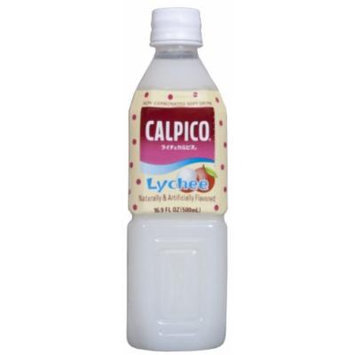 Calpico Soft Drink, Lychee, 16.9-Ounce (Pack of 8)