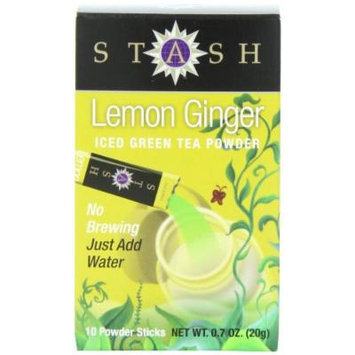 Stash Powdered Green Iced Tea, Lemon Ginger, 10 Count