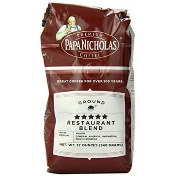 PapaNicholas Coffee Ground Coffee, 5-Star Restaurant Blend, 12 Ounce