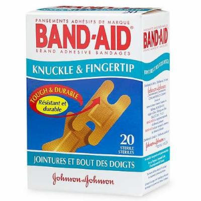 Band-Aid Flexible Fabric Adhesive Bandages, Knuckle & Fingertip 20 ea
