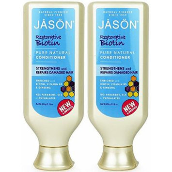 Jason Pure Natural Conditioner, Restorative Biotin, 16 Ounce (Pack of 2)
