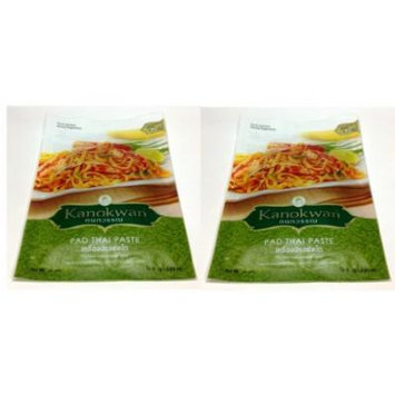 Pad Thai Noodle Paste Kanokwan Brand 72g. (2.53oz.) (Pack of 2)