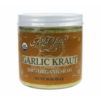 Organic Raw Garlic Kraut - 16 oz