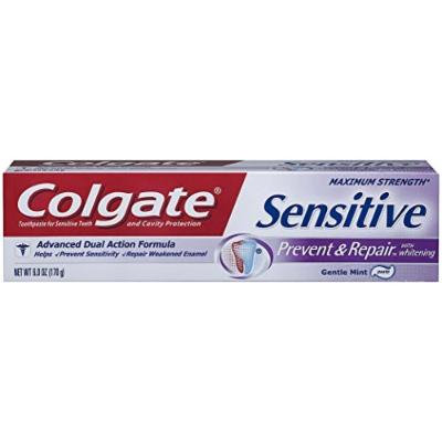 Colgate Sensitive Prevent and Repair Toothpaste, 6 Ounce (2)